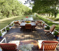 Luxury barge hotel French canal cruise
