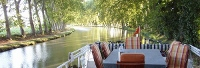 Luxury cruise on Canal du Midi - outside dining