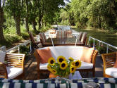 Sundeck on the hotel-barge