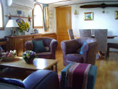 The barge has beautiful interiors